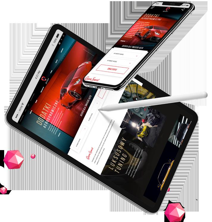 Magento sklep - wizualizacja na laptopie